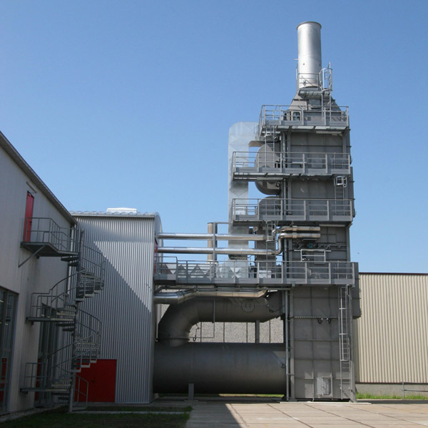 Incineration plant in the coating industry