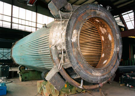 The steam-cooled combustion chamber in the chemical industry