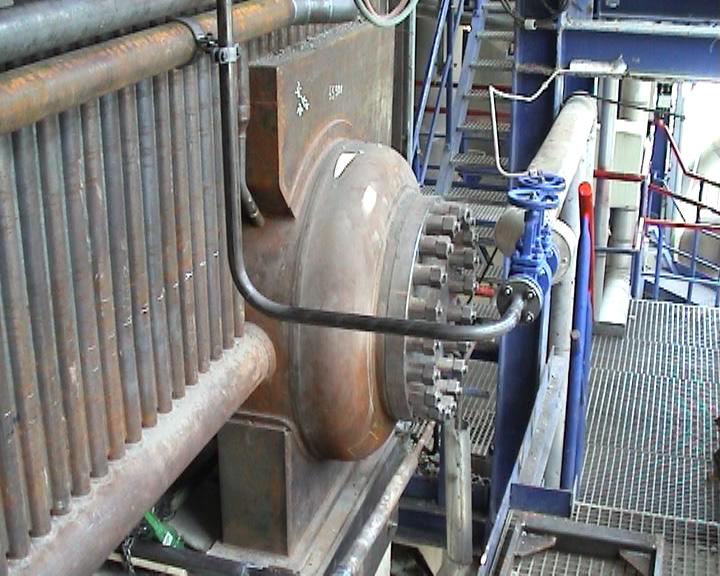 Lower steam header