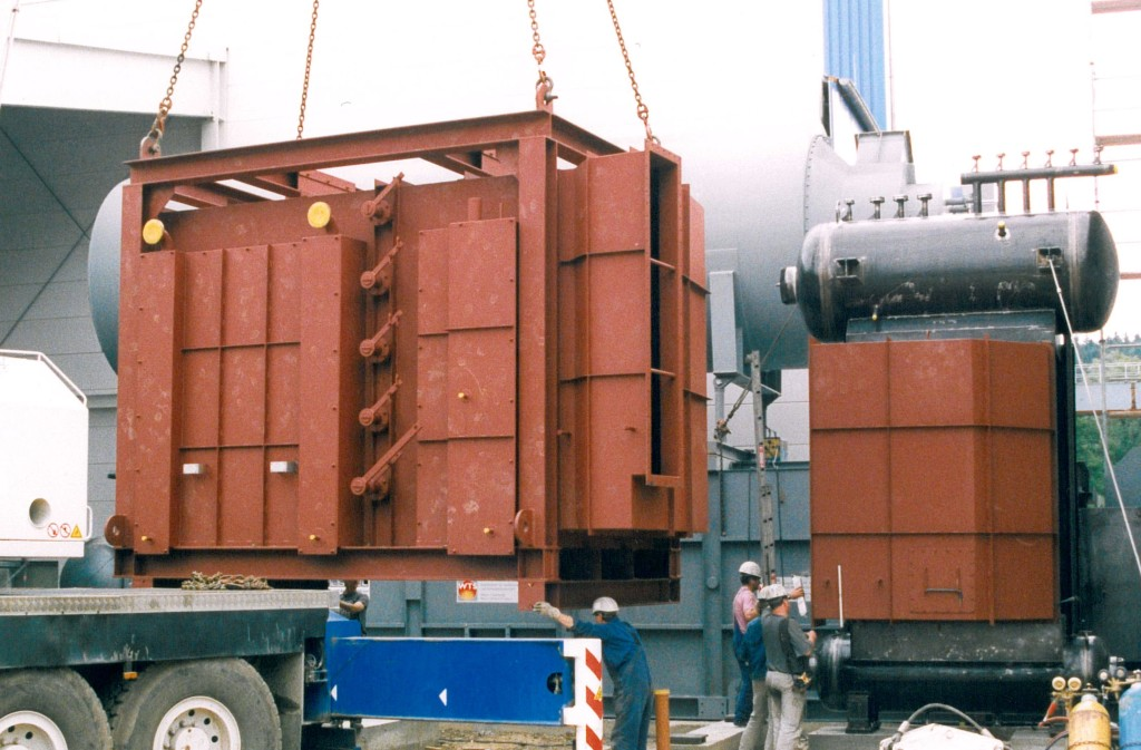 Steam boiler with flap system