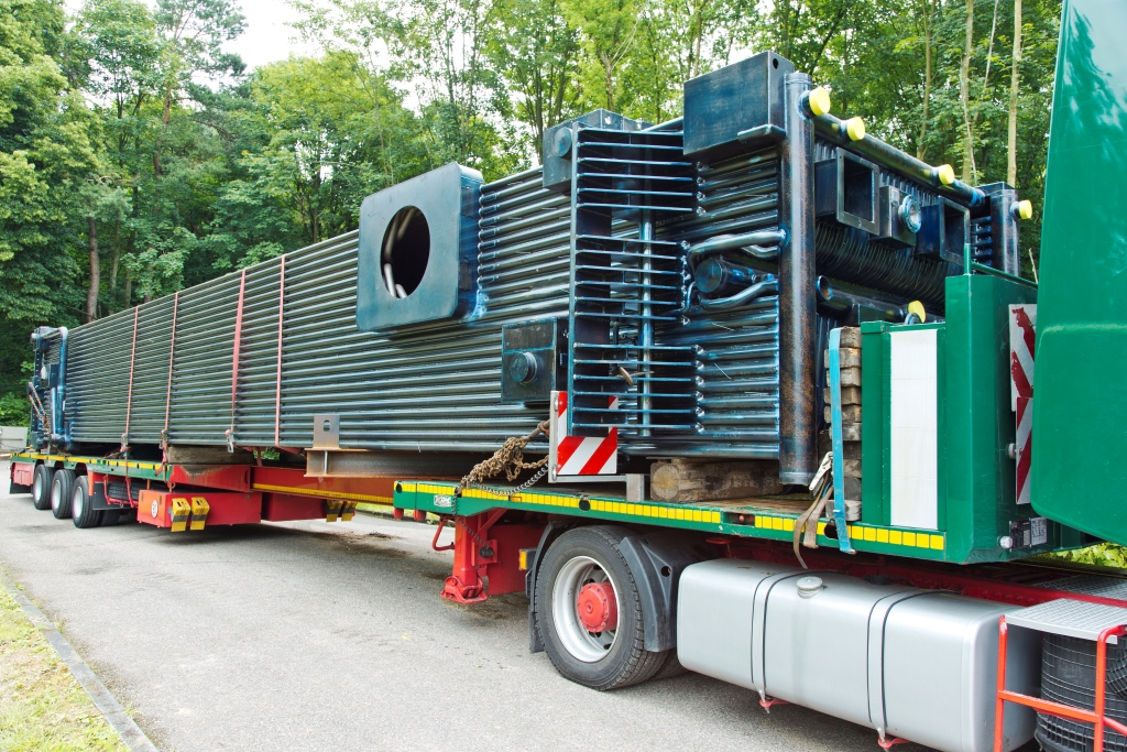 Transport of a steam boiler